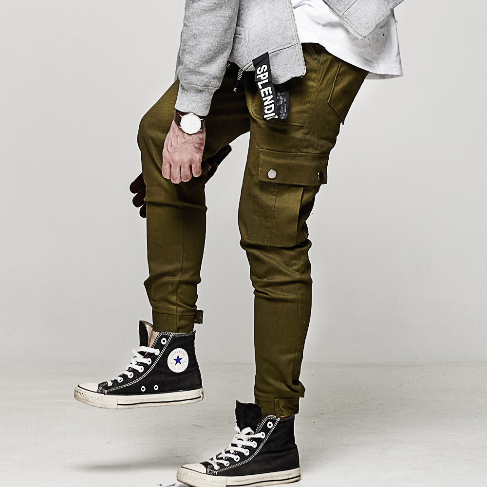 DITION 機能OUTDOOR多口袋工裝縮口褲 黏貼 工作褲