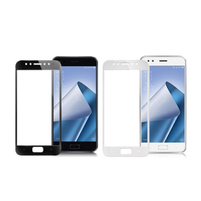 【MK馬克】ASUS Zenfone4 (ZE554KL) 全滿版9H鋼化玻璃貼-白色