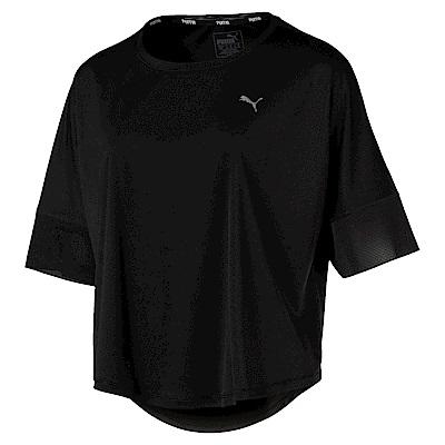 PUMA-女性訓練系列單豹短袖T恤-黑色-歐規