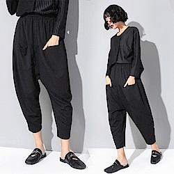 時尚新主張一字袋九分哈倫褲M-XL-CLORI