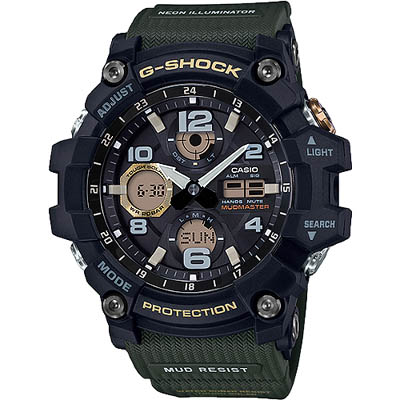 G-SHOCK MUDMASTER極限大陸太陽能錶-綠(GSG-100-1A3)/54mm