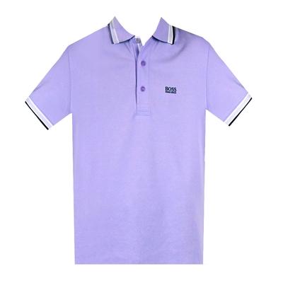 HUGO BOSS 經典標誌配色男款POLO衫-淺紫