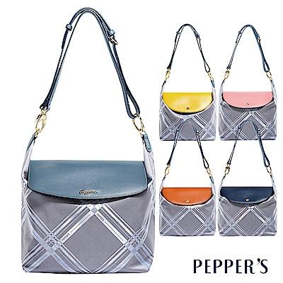 PEPPER-S-Diamond-綾格紋緹花布肩背