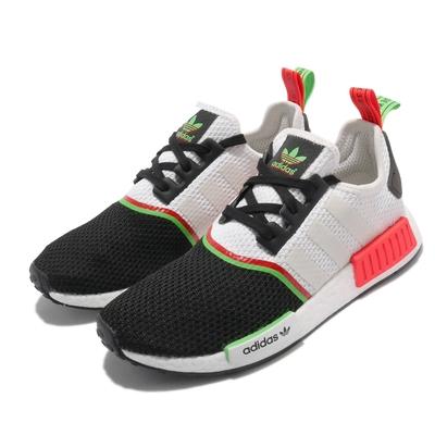 adidas 休閒鞋 NMD R1 襪套式 男女鞋 海外限定 愛迪達 BOOST 情侶鞋穿搭 白 黑 FY2425
