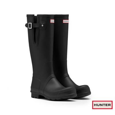 HUNTER - 男鞋-可調整扣帶霧面長靴 - 黑