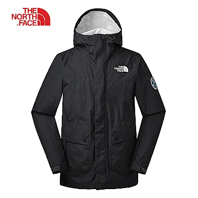 The North Face北面男款黑色防水透氣衝鋒衣|3V4NJK3