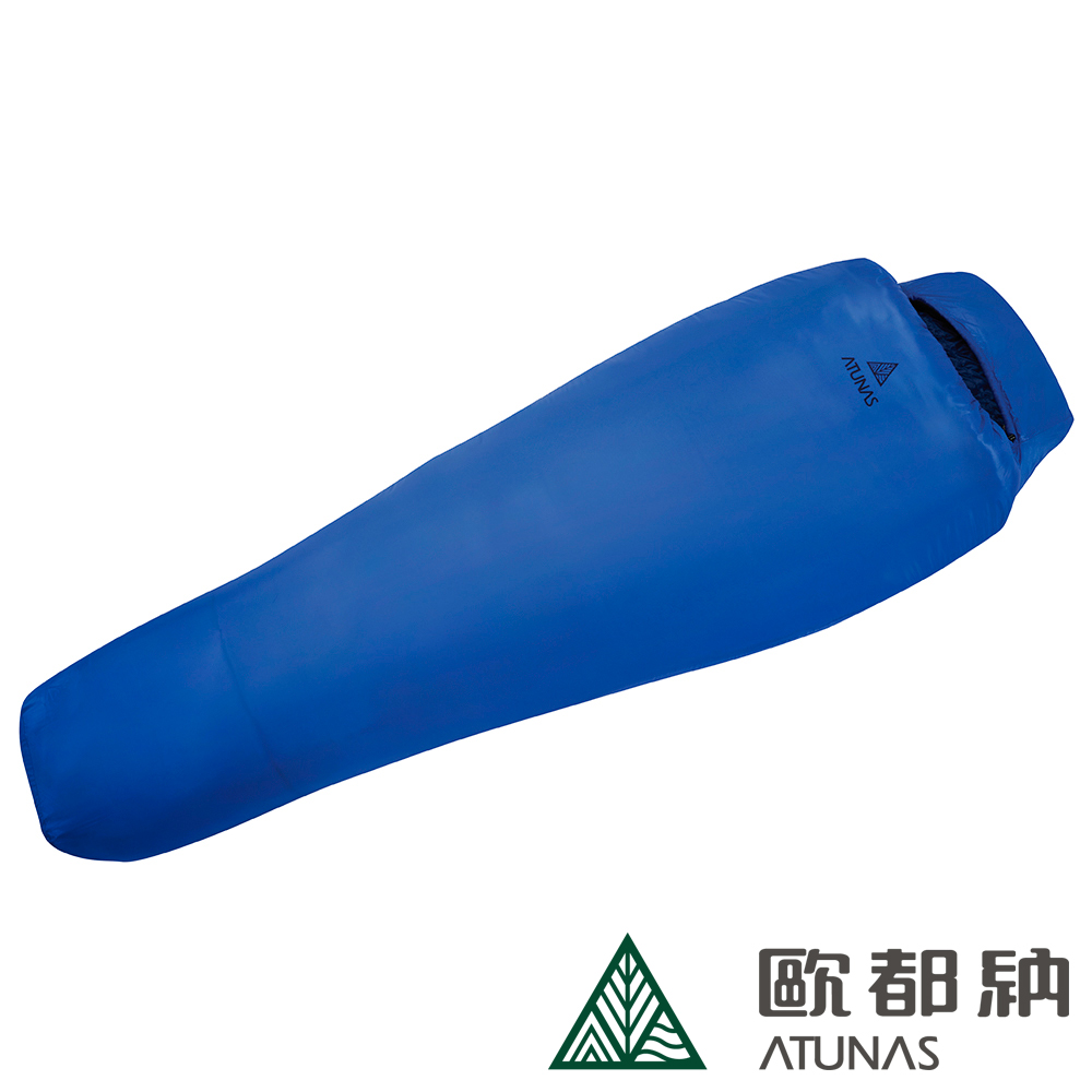 【ATUNAS 歐都納】超輕量媽咪型科技纖維睡袋(A-SB1803寶藍/戶外露營/背包客)
