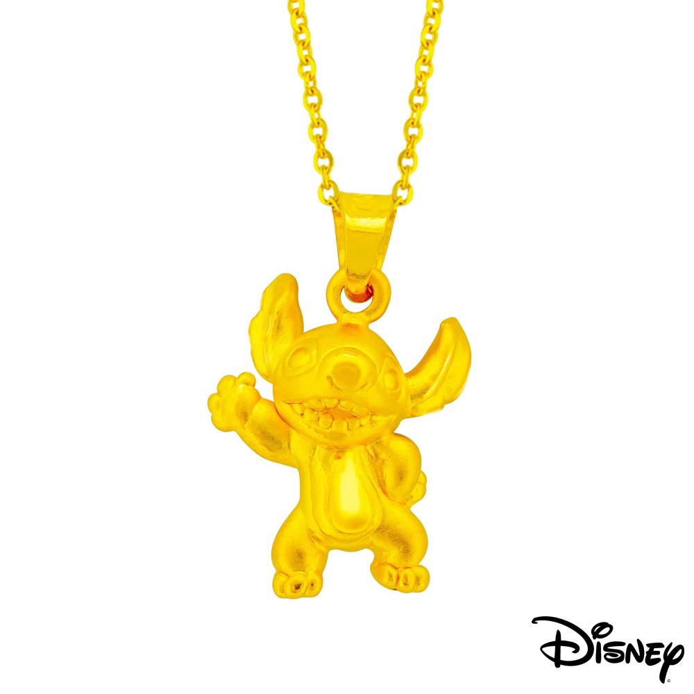 Disney迪士尼系列金飾 立體黃金墜子-焦點史迪奇款 送項鍊