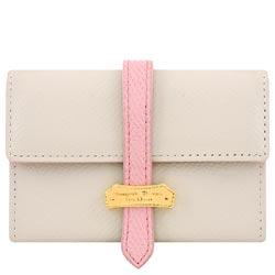 Samantha Thavasa 粉紅色飾帶防刮皮革證件名片短夾