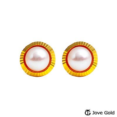 Jove gold 溫情黃金/天然珍珠耳環