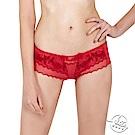 LADY 巴黎玫瑰系列 低腰平口內褲(火焰紅)