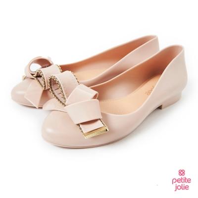Petite Jolie--優雅結飾果凍娃娃鞋-粉膚