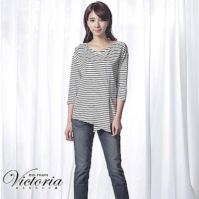 Victoria 粉紅漆男友褲-女-藍色