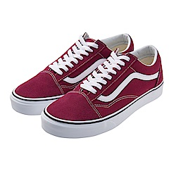 (男)VANS Old Skool 經典素面休閒鞋*紅色