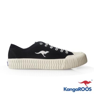 KANGAROOS 男 CRUST 職人手工硫化鞋(黑)