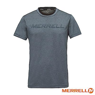 MERRELL 吸濕快乾排汗短袖男T恤-深灰(5218TR213)