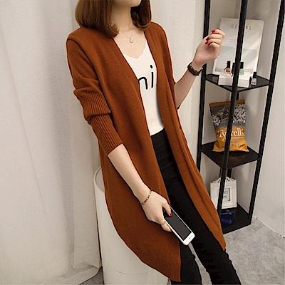 DABI 韓系毛衣針織衫開衫寬松顯瘦長袖單品外套