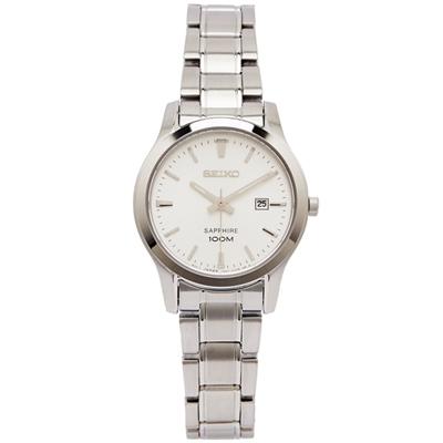 SEIKO 魅力風采女性手錶(SXDG61P1)-銀白面X銀色/29mm