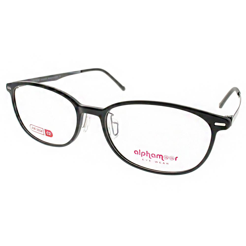 Alphameer光學眼鏡 韓國塑鋼系列/霧黑#AM3604 C02