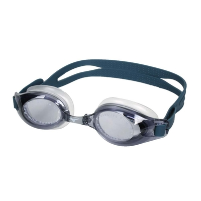MIZUNO SWIM 泳鏡-台灣製 抗UV 防霧 蛙鏡 游泳 訓練 美津濃 N3TE702000-37 黑灰白