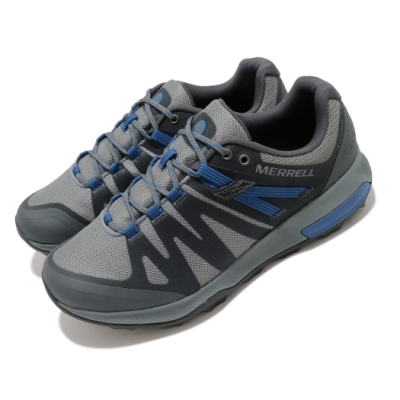 Merrell 戶外鞋 Zion FST Waterproof 男鞋 登山 越野 防水 透氣 支撐 避震 膠底 黑 藍 ML035337