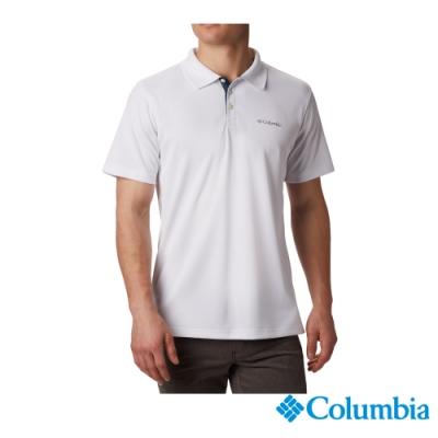 Columbia 哥倫比亞 男款- Omni-SHADE防曬30快排POLO衫-白色