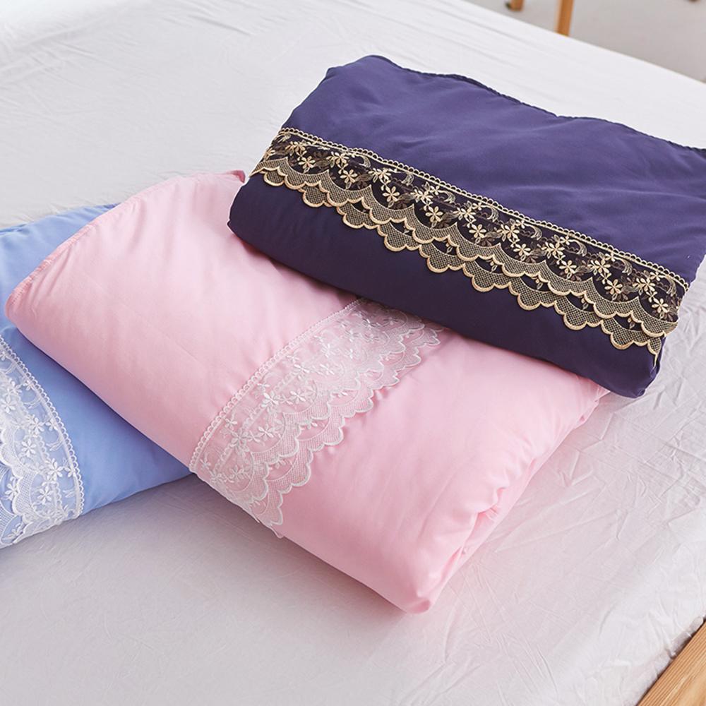 戀家小舖 / 雙人涼被  蕾絲涼被-三色可選  高密度磨毛布  台灣製