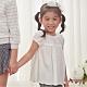 Annys安妮公主-舒適透氣紗網蝴蝶結春夏款純棉短袖上衣*8326白色 product thumbnail 1
