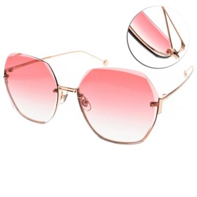 MOLSION 太陽眼鏡 Angelababy代言 /金-漸層紅鏡片#MS7082 A31