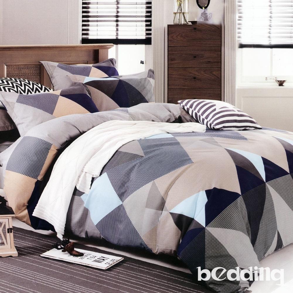 BEDDING-活性印染6尺雙人加大薄床包三件組-凡客
