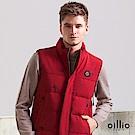 歐洲貴族 oillio 鋪棉背心 蜜蜂印花 防風擋片 紅色