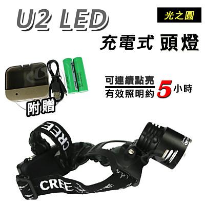 Light RoundI光之圓 U2 LED 充電式頭燈 CY-LR1542