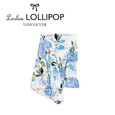 加拿大Loulou lollipop 竹纖維透氣包巾120x120cm-紫色繡球花