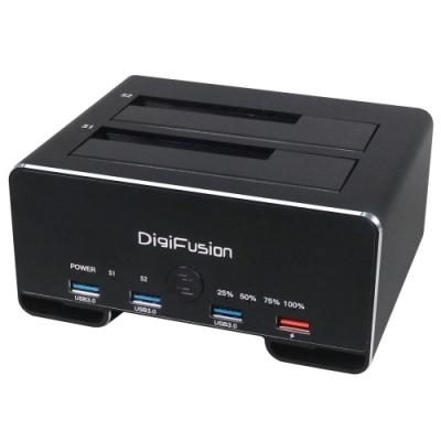 USB3.1 Gen1 2.5/3.5 雙SATA 鋁合金硬碟拷貝機+HUB