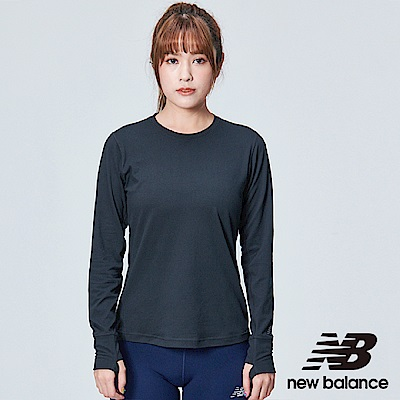 New Balance DRY 彈性花紗長袖上衣 AWT83119BK 女性 黑色