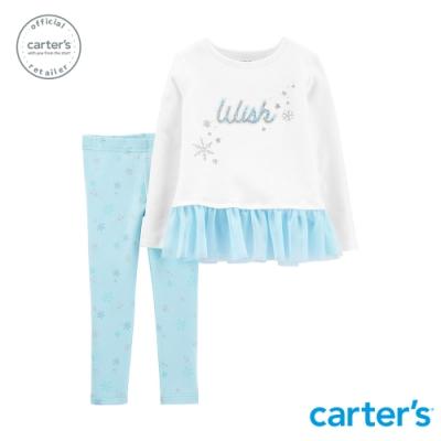 Carter s台灣總代理 夢幻冬季紗裙2件組套裝