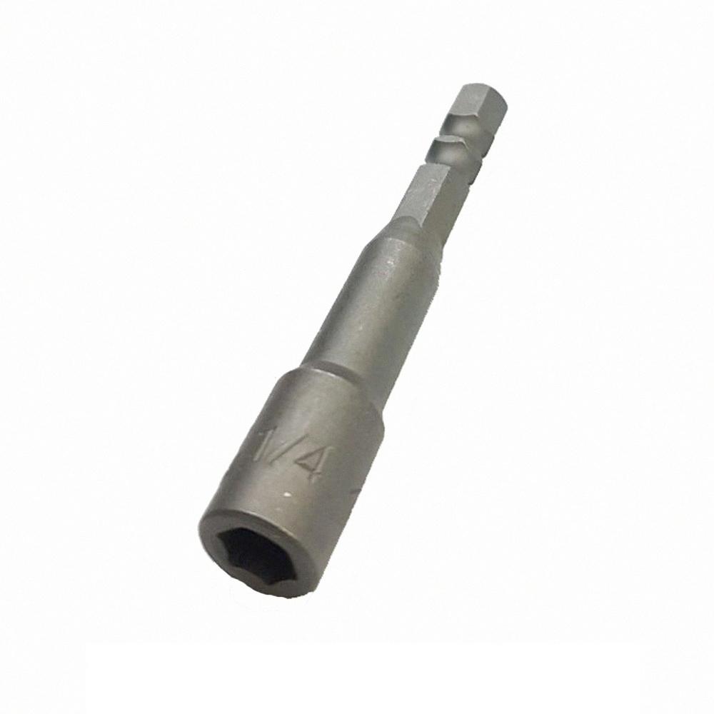 SA002 2入 六角氣動套筒頭/起子頭套筒 1/4英寸*65L6.35mm 附磁鐵