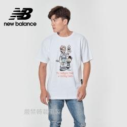 【New Balance】藝術家短袖上衣_男性_白色_AMT11522WT