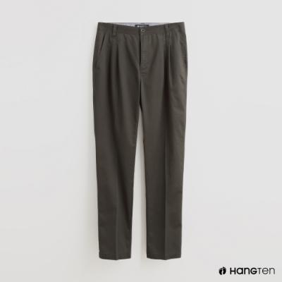 Hang Ten - 男裝 - 素面鈕扣休閒長褲 - 綠