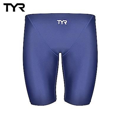 美國TYR 男用及膝泳褲 藍色 Solid Jammer