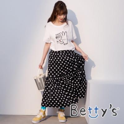 betty's貝蒂思 復古風格圓點蛋糕長裙(黑色)