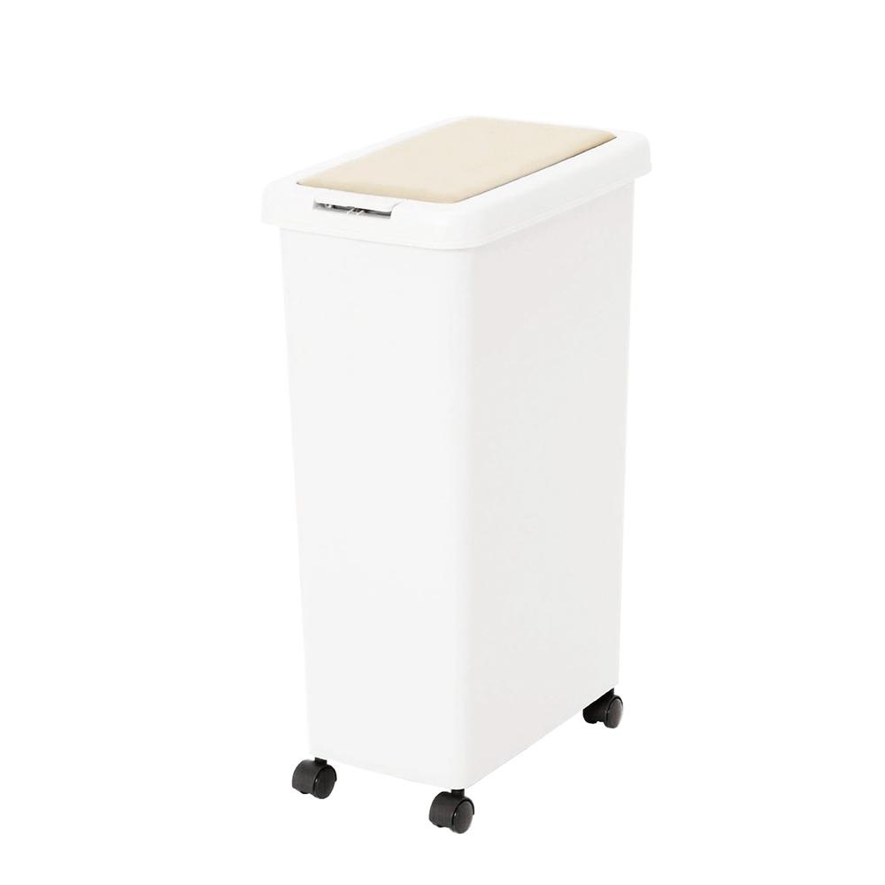 +O家窩 日本製諾亞按壓彈蓋式防臭垃圾桶(附輪)-30L