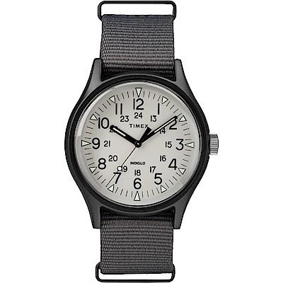 TIMEX 天美時 MK1 潮流軍錶-白x灰色-40mm