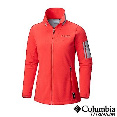 Columbia哥倫比亞 女款-鈦Polar刷毛外套-紅色 UAR03290RD