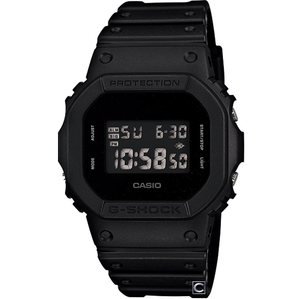 G-SHOCK 經典磨砂霧面時尚運動錶(DW-5600BB-1D)