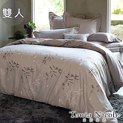 Tonia Nicole東妮寢飾  嵐山小徑環保印染100%精梳棉兩用被床包組(雙人)