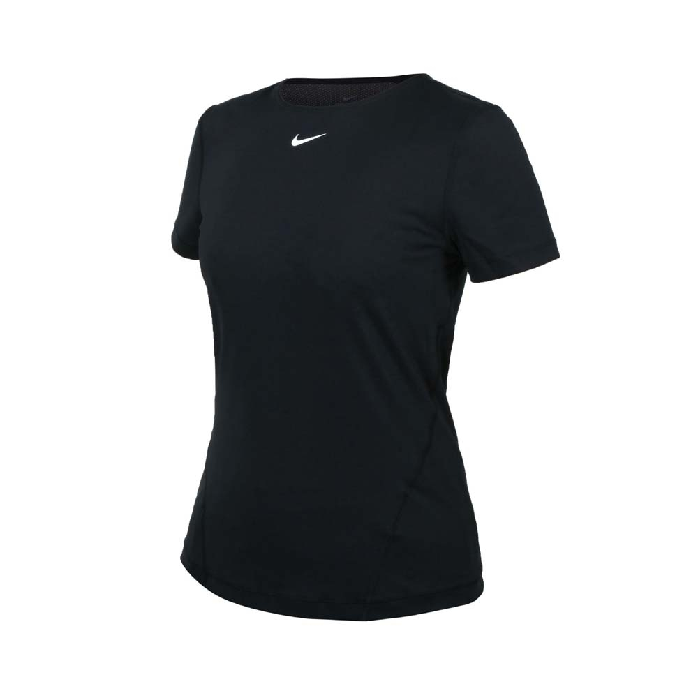 NIKE 女短袖T恤-DRI-FIT 運動 上衣 慢跑 路跑 AO9952-010 黑白