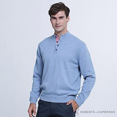 ROBERTA諾貝達 魅力型男 喀什米爾毛衣  淺藍