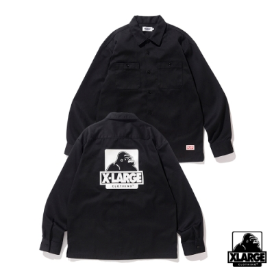 XLARGE L/S OG WORK SHIRT工作襯衫-黑