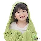HERA  3M專利瞬吸快乾抗菌超柔纖 嬰幼童連帽巾-香草綠